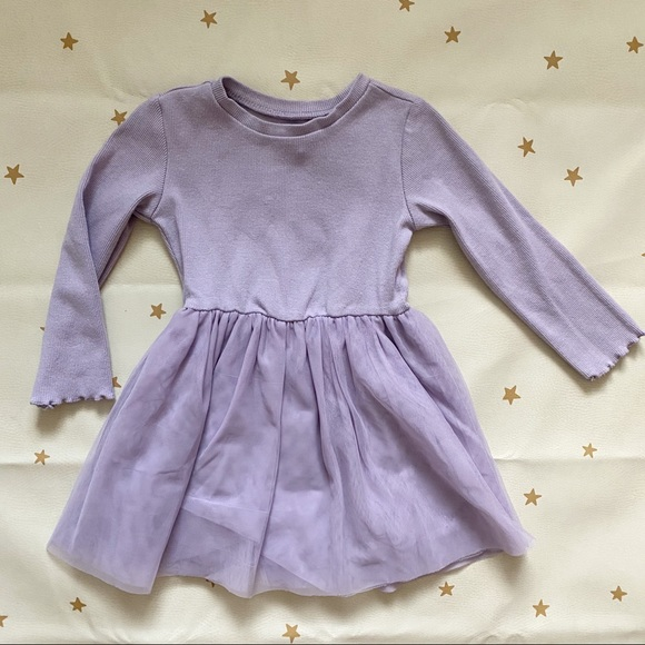 Gymboree Ribbed Tulle Dress - Lavender